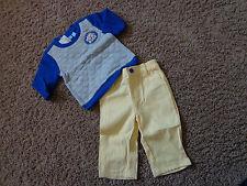 CHILDREN'S PLACE boys NWT sz 6-9 month sweater & pants set Cool Dude yellow/blue