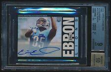 2014 Topps Chrome Mini 1985 Autograph Refractor rc #13 Eric Ebron BGS 9 /15