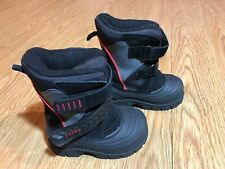 Toddler Boys Totes Winter Boots, Size 5, Black/Red