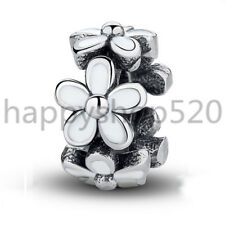 Flower silver charm pendant space bead For European S925 charms bangle bracelet