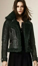 Burberry Dark Cedar Green Shearling jacket #rare Size IT 38 or UK 6 NEW w/tag!