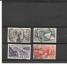 FRANCE 1949.VUE STYLISEES.LOT DE 4 TIMBRES GOMMES CACHETS RONDS. PA. 24/25/26/27