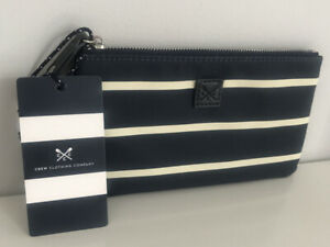 New Crew Clothing Womens Purse Pouch in Navy/White Stripe