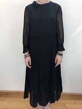 Genuine Vintage 1930s Scalloped Black Evening Dress