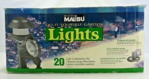 Vtg Intermatic Malibu Do It Yourself Garden Lights 20 Light Combo Set LX1972OT