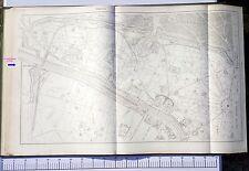 Paris XVI ème - Préfet POUBELLE Très Rare Plan de 1888 au 1/5000 (67 x 105 cm)