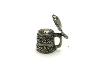 Tankard Thimble Pewter Victorian Miniature Collectible