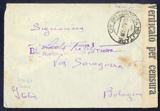 1942 Italy Army Feldpost Censored Cover with letter from Eastern Front USSR
