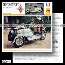 #024.03 Scooter MOTOCONFORT 125 SVH MOBY 1956 Fiche Moto Classic Motorcycle Card