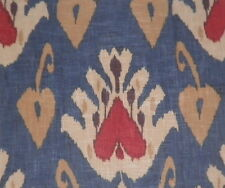ANDREW MARTIN Sokot Blue Red Ikat Central Asian England Remnant New
