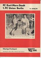 OL 78/79  1. FC Union Berlin - FC Karl-Marx-Stadt