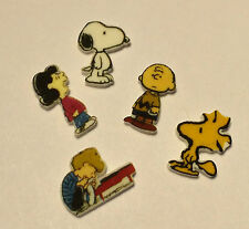 5 SNOOPY WOODSTOCK FLOATING LOCKET CHARMS LUCY SCHROEDER  PIANO CHARLIE BROWN