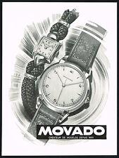 1940's Vintage 1946 Movado Watch Co. Mid Century Modern R. Bleuer Art Print AD