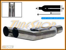 """ASPEC BLASTPIPES EQUAL TIPS 3"""" INLET T-304 STAINLESS UNIVERSAL MUFFLER EXHAUST"""
