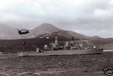 "Royal Navy HMS Bristol Falklands War Ascension Island 1982, 7x5"" repro photo"