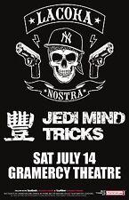 LA COKA NOSTRA / JEDI MIND TRICKS 2012 NEW YORK CITY CONCERT TOUR POSTER-Hip Hop