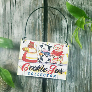Cookie Jar Collector Mini Gift Sign Ornament DecoWords USA