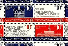 1974 - CONTINENTAL CONGRESS - #1543-46 Mint -MNH- Sheet of 50 Postage Stamps