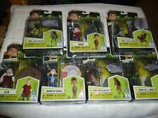 """Lot of 7 Huckleberry Toys Paranorman 4"""" Action Figures Norman & Zombies MISP"""