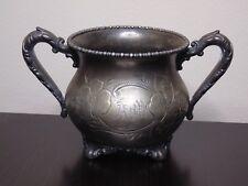 Vintage Knickerbocker Silver Co Silver-plated Footed Sugar bowl