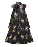 2017 ERDEM x H&M Floral Pleated Frill A-Line Dress With Bow - US 4 MINT!