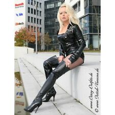 9 Super sexy Pleaser Single Soles Thigh High Boots BLACK