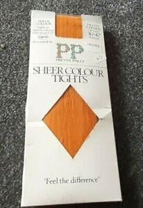 PRETTY POLLY SHEER COLOUR TIGHTS   15 DENIER    Hips 36-42 inches   ORANGE