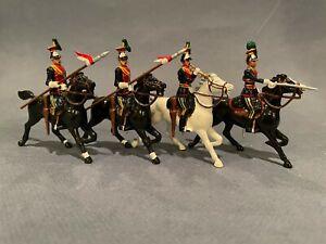 Britains #8959 5th Royal Irish Lancers, 4 PC Mounted Set in Box