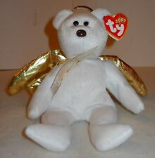 "TY 2000 ""HALO II"" ANGEL BEAR W/GOLDEN HALO & WINGS, NEW CONDITION WITH TAGS!"