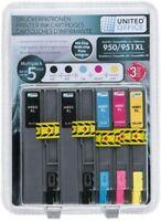 multipack cartucce x HP 950/951XL con chip 2 NERO +3 COLORI, 950/951 1 nero+ 3 c