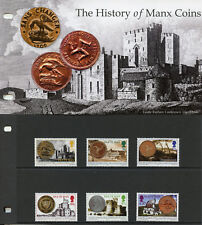 Isle of Man IOM 2010 MNH History Manx Coins 6v Set Pres Pack Numismatics Stamps