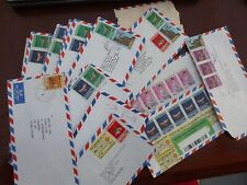 Burma  Union of myanmar air letter used stamps covers 15 covers