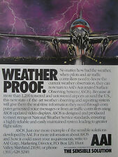 1991 PUB AAI ASOS AUTOMATED SURFACE OBSERVING SYSTEM AIRLINER AIRPORT THUNDER AD