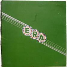 The Story of ERA - Car History Brochure - 1935-36