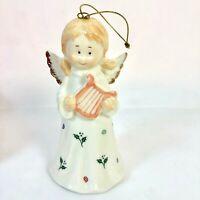 Christmas Musical Porcelain Angel Figure Ornament Formalities  Hark The Herald
