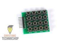 4x4 Matrix Keypad Keyboard Tastatur Modul 16 Tasten 8 LEDs für Arduino