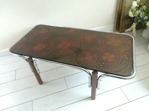 Fat Lava Teak Chrome Coffee Table Original  Vintage 60's 70's Retro Very Rare