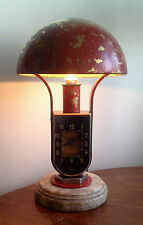 Early Art Deco MOFEM Clock Lamp Light circa 1920's
