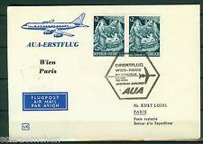 AUA Erstflugpost Wien-Paris , 01.04.1966