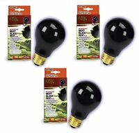 Zilla Night Black Incandescent Bulb 100 Watt (3 Pack)