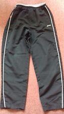 Boy's black & grey trim Slazenger football trousers, zips at hem Age 13