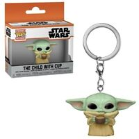 FunKo POP! Star Wars The Mandalorian The Child with Cup Pocket Keychain