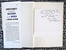 1957 ARNOLD TOYNBEE **SIGNED & INSCRIBED NOTE OF SYMPATHY** In a First Ed. Book
