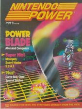 Nintendo Power Vintage Gaming Magazine April 1991 Power Blade w  Sim City Poster