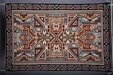 Very fine Navajo rug, blanket Native American textile, weaving by Helen Begay