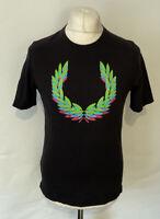 Fred Perry Men's T Shirt Black Medium 100% Cotton Short Sleeve *Worn*