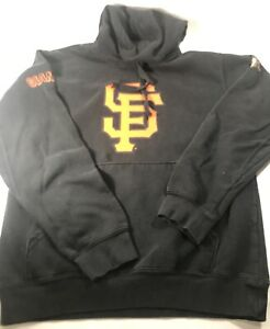 San Francisco Giants Sweatshirt Sewell Black Hoodie MLB Sport Shirt Sz S