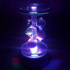 Round Crystal 4 LED Light Music Box Base Crystal Box Base Gift Box Decoration ST