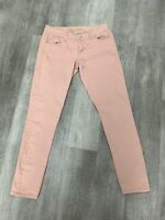 Women's Junior's American Rag Cie Jeans 5 SHORT Peach Skinny