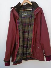 Barbour Bedale Mens Burgundy Wax Jacket Size Large with hood